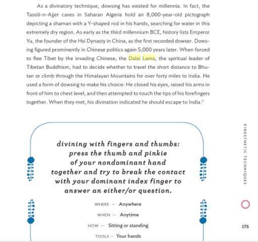 dalai lama finger divination